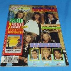 Coleccionismo de Revistas y Periódicos: REVISTA SUPER POP 231, TODO SOBRE EUROPE, FALTA POSTER GIGANTE. Lote 287921468