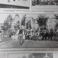 Collectionnisme de Revues et Journaux: BAILADORES MALLORQUINES COPLEROS VALENCIANOS ARAGONESES LA CHELITO PEONES CAMINEROS REVISTA 1910. Lote 287952888