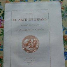 Collectionnisme de Revues et Journaux: AÑO 1862 REVISTA EL ARTE EN ESPAÑA CON GRABADOS Y LÁMINAS. Lote 287983933