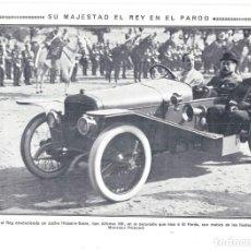 Coleccionismo de Revistas y Periódicos: 1913 HOJA REVISTA MADRID EL PARDO REY ALFONSO XIII EN AUTOMÓVIL COCHE HISPANO-SUIZA. Lote 287998533