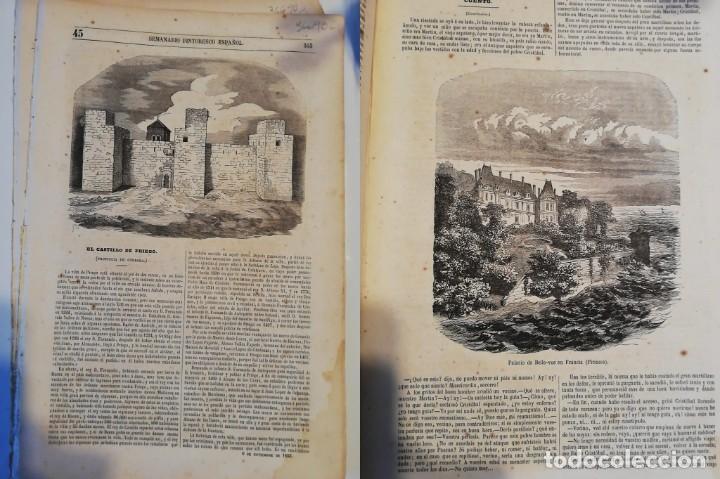 SEMANARIO PINTORESCO ESPAÑOL, Nº 45, 6 NOVIEMBRE 1853. CASTILLO DE PRIEGO, EL PRADO Y EL RETIRO (Coleccionismo - Revistas y Periódicos Antiguos (hasta 1.939))