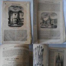 Coleccionismo de Revistas y Periódicos: SEMANARIO PINTORESCO ESPAÑOL, Nº 48, 27 NOVIEMBRE 1853: ARCO DE TOLEDO EN ZARAGOZA, PUERTA DEL SOL S. Lote 288040973