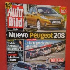 Coleccionismo de Revistas y Periódicos: AUTOBILD REVISTA N º 273- 02-2011- NUEVO PEUGEOT 208. Lote 288068778