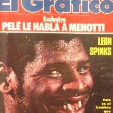 Coleccionismo de Revistas y Periódicos: EL GRAFICO 3046 LEON SPINKS GANO A MUHAMMAD ALI. Lote 288235178