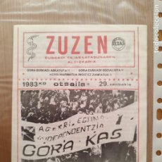 Coleccionismo de Revistas y Periódicos: REVISTA EUSKADI TRANSICIÓN ETA MUY DIFICIL. Lote 288538713