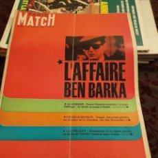 Coleccionismo de Revistas y Periódicos: PARIS MATCH : BEN BARKA + BRIGITTE BARDOT + MADAME DOMENICA WALTER. Lote 288566573