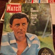 Coleccionismo de Revistas y Periódicos: PARIS MATCH : GERARD PHILIPPE + EDITH PIAF + SORAYA + FAUSTO COPPI + PERRAULT. Lote 288573973