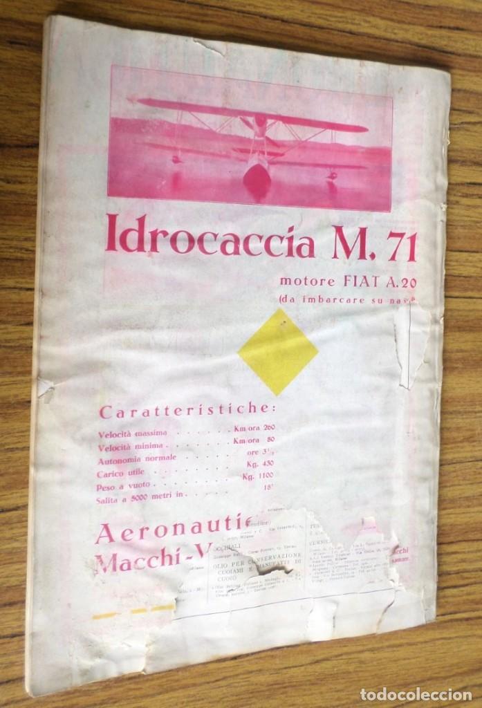 Coleccionismo de Revistas y Periódicos: AERONAUTICA - revista mensile internazionale illustrat - agosto 1930 A. VIII - Foto 4 - 288591348
