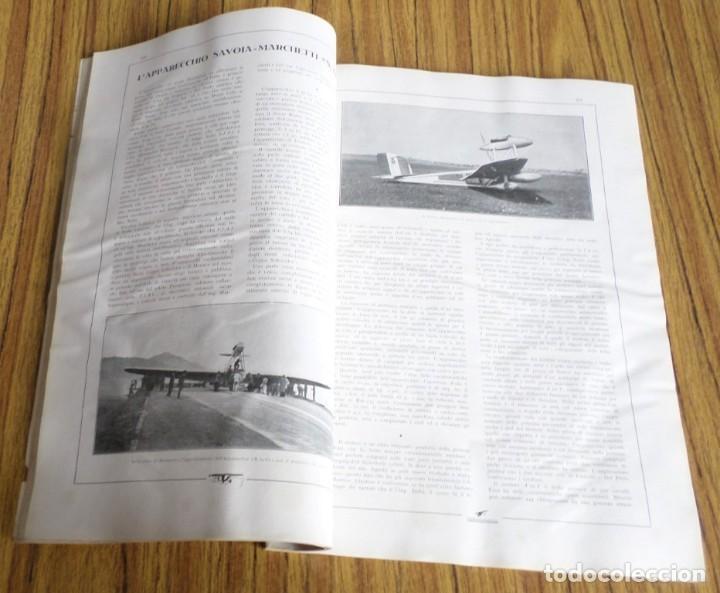 Coleccionismo de Revistas y Periódicos: AERONAUTICA - revista mensile internazionale illustrat - agosto 1930 A. VIII - Foto 6 - 288591348