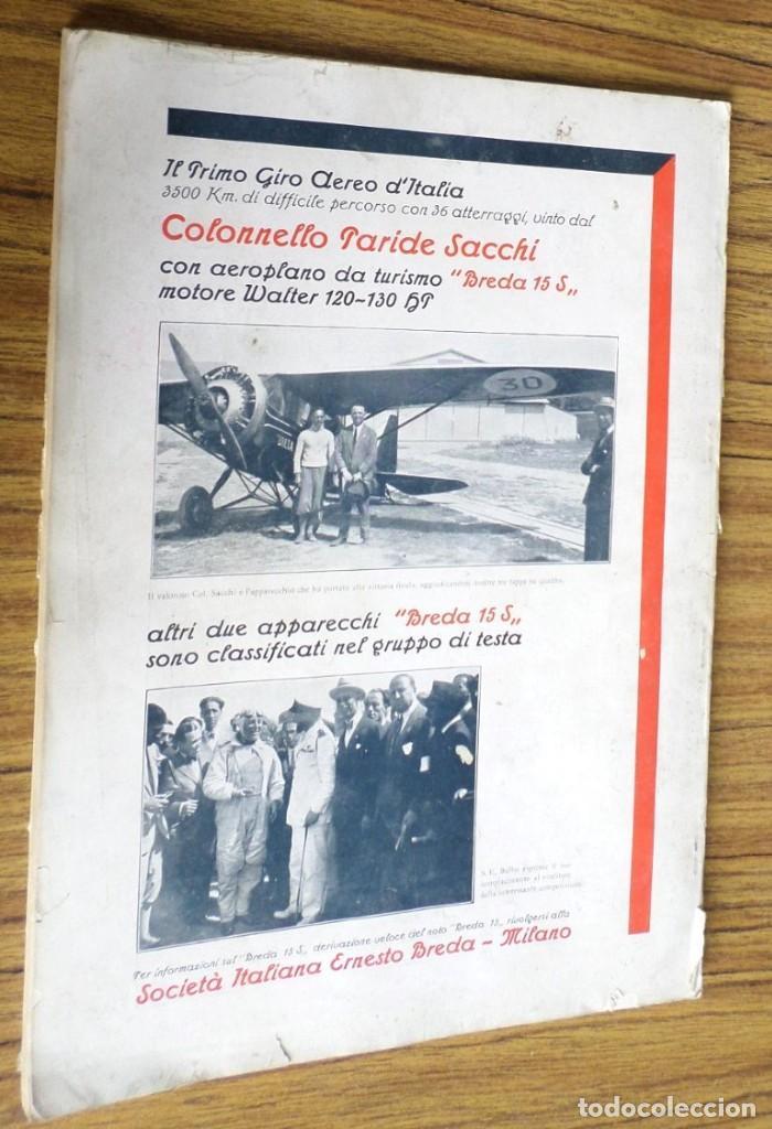 Coleccionismo de Revistas y Periódicos: AERONAUTICA - revista mensile internazionale illustrat - ottobre 1930 A. VIII - Foto 6 - 288591658