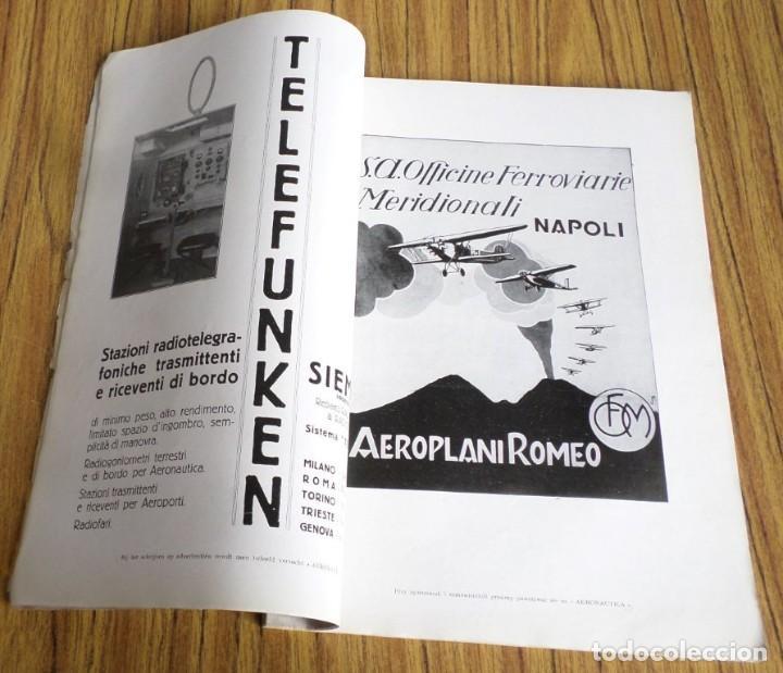 Coleccionismo de Revistas y Periódicos: AERONAUTICA - revista mensile internazionale illustrat - ottobre 1930 A. VIII - Foto 8 - 288591658