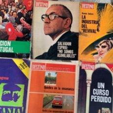 Coleccionismo de Revistas y Periódicos: LOTE DE 6 REVISTAS DESTINO AÑO 1975. Lote 288604503