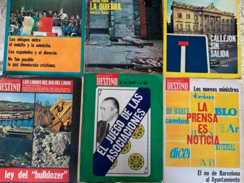 LOTE DE 6 REVISTAS DESTINO, AÑO 1975 (Coleccionismo - Revistas y Periódicos Modernos (a partir de 1.940) - Otros)