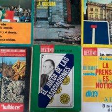 Coleccionismo de Revistas y Periódicos: LOTE DE 6 REVISTAS DESTINO, AÑO 1975. Lote 288605198