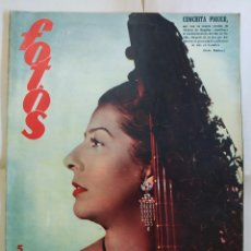 Coleccionismo de Revistas y Periódicos: REVISTA FOTOS . CONCHITA CONCHA PIQUER - AÑO 1954. Lote 288698473
