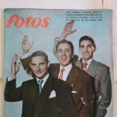 Coleccionismo de Revistas y Periódicos: REVISTA FOTOS. ZORI, SANTOS Y CODESO DESDE EL TEATRO CALDERON ERMITAÑOS CORDOBA, ALICANTE - AÑO 1954. Lote 288698928