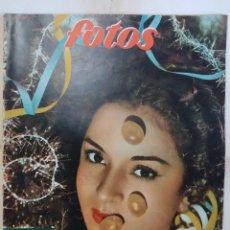 Collezionismo di Riviste e Giornali: REVISTA FOTOS. LOLA FLORES HOMENAJES, BARAJAS ACTORES, TARRACO, MANOLITA RUIZ, LINE RENAUD AÑO 1953. Lote 288699728