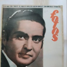 Coleccionismo de Revistas y Periódicos: REVISTA FOTOS 1952 RICHIARDI JR. TORERO AGUSTIN GONZALEZ, ALHUCEMAS, LA MANCHA VINO VARON, C. ARRUZA. Lote 288700103