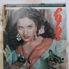 Coleccionismo de Revistas y Periódicos: REVISTA FOTOS. AÑO 1952. LOLA FLORES, SAN MATEO OVIEDO, DIA AMERICA EN ASTURIAS, MISS AMERICA. Lote 288701248