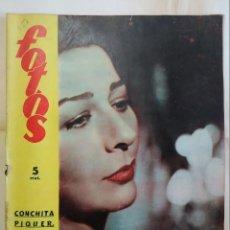 Coleccionismo de Revistas y Periódicos: REVISTA FOTOS. AÑO 1955. CONCHITA PIQUER, FERIA MAYO CORDOBA, FIESTAS SAN ISIDRO EN MADRID. Lote 288702368