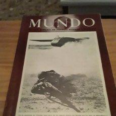 Coleccionismo de Revistas y Periódicos: MUNDO.REVISTA SEMANAL POLITICA EXTERIOR Y ECONOMIA.AÑO V.N.215.18 JUNIO 1944.. Lote 288867198