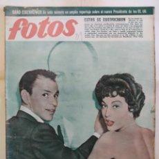 Coleccionismo de Revistas y Periódicos: REVISTA FOTOS. AÑO 1952. AVA GARDNER FRANK SINATRA MISS UNIVERSO TETUAN ANTONIO BAILARIN Y ROSARIO. Lote 288996218