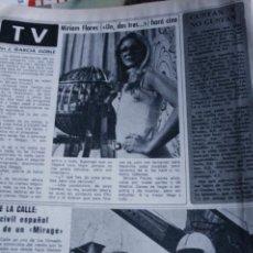 Coleccionismo de Revistas y Periódicos: SOFIA LOREN AVA GARDNER ROPCIO DURCAL SUSANA ESTRADA MORGAN BRITTANY UN DOS TRES CAMARON 1976. Lote 289008543