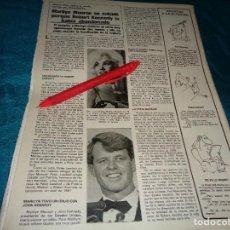 Coleccionismo de Revistas y Periódicos: RECORTE : MARILYN MONROE, SE SUICIDO, SEGUN FRED GUILES. SEMANA, NOVMBRE 1984(#). Lote 289241253