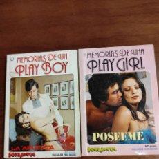 Coleccionismo de Revistas y Periódicos: MEMORIAS DE UN PLAYBOY MEMORIA DE UNA PLAY GIRL COLECCIÓN SEXY NOVEL. Lote 289417223