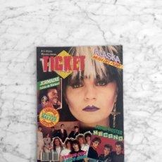 Coleccionismo de Revistas y Periódicos: TICKET - 1984 - ALASKA, SPANDAU BALLET, POLICE, TINO CASAL, SINIESTRO TOTAL, MECANO, STATUS QUO. Lote 289554338