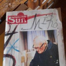 Coleccionismo de Revistas y Periódicos: IBERIA DAILY SUN ,NÚMERO ESPECIAL DEDICADO A JOAN MIRÓ, 200 PÁGINAS. Lote 289574688