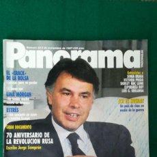 Collectionnisme de Revues et Journaux: REVISTA PANORAMA, EXCLUSIVA LINA MORGAN, FELIPE GONZÁLEZ, SONIA BRAGA. 1987. Lote 289625853