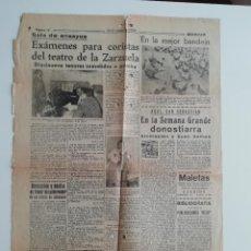 Coleccionismo de Revistas y Periódicos: RECORTE «EXÁMENES PARA CORISTAS DEL TEATRO DE LA ZARZUELA» MADRID 1956. Lote 289887628