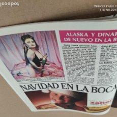 Coleccionismo de Revistas y Periódicos: RECORTE: ALASKA Y DINARAMA - 1986. Lote 289890098