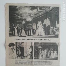 Coleccionismo de Revistas y Periódicos: RECORTE «BAILE EN CAPITANÍA» ZARZUELA 1960 MORENO TORROBA SANTOS YUBERO / EL HOGAR DE FABIOLA. Lote 289890223