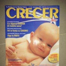 Coleccionismo de Revistas y Periódicos: REVISTA CRECER FELIZ NIÑOS BEBÉS HIJOS MADRES PADRES N° 135 AÑO 1999 EMBARAZO PARTO BEBÉ. Lote 289893083