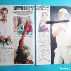 Coleccionismo de Revistas y Periódicos: DON JOHNSON- MELANIE GRIFFITH Y TIPPI HENDREN- PATTI D'ARVANBILLE -RECORTE 3 PAG - AÑO 1986. Lote 289934893