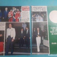 Coleccionismo de Revistas y Periódicos: RANIERO ESTEFANIA Y ALBERTO DE MONACO HOMENAJE ALIAN PROTS GANADOR -RECORTE 4 PAG - AÑO 1986. Lote 289945893