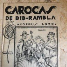 Collezionismo di Riviste e Giornali: CAROCAS CORPUS 1932. GRANADA. Lote 292136743