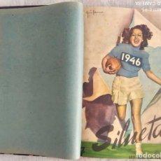 Coleccionismo de Revistas y Periódicos: REVISTA SILUETAS, ARTE, MODA, CINE, TEATRO Y LITERATURA - AÑO COMPLETO DEL 1946 EN DOS TOMOS. Lote 292260843