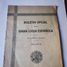 Coleccionismo de Revistas y Periódicos: BOLETÍN OFICIAL DE LA GRAN LOGIA ESPAÑOLA. NÚMEROS 3 Y 4. MADRID 1929.. Lote 293425138