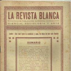 Coleccionismo de Revistas y Periódicos: 3837.- ANARQUISMO - LA REVISTA BLANCA - FEDERICO URALES-FEDERICA MONTSENY. Lote 293544538