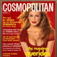 Coleccionismo de Revistas y Periódicos: COSMOPOLITAN N° 11-94 (NOVIEMBRE 1994). CLAUDIA SCHIFFER, JOAQUÍN SABINA, MARISA TOMEI,…. Lote 293648328
