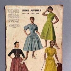 Colecionismo de Revistas e Jornais: REVISTA LINEA JUVENIL - MODA FEMENINA - AÑOS 50 - DISEÑO. Lote 293720358