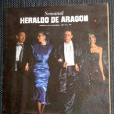 Coleccionismo de Revistas y Periódicos: SEMANAL HERALDO ARAGÓN Nº172 DICIEMBRE 1985 - ALASKA - HÉROES DEL SILENCIO HDS - SABINA. RESUMEN AÑO. Lote 293763698