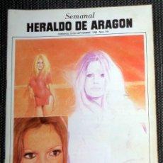 Coleccionismo de Revistas y Periódicos: SEMANAL HERALDO ARAGÓN Nº106 SEPTIEMBRE 1984 - REPORTAJE SALA ROCKOLA MOVIDA MADRILEÑA. MATIAS URIBE. Lote 293767118