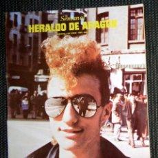 Coleccionismo de Revistas y Periódicos: SEMANAL HERALDO ARAGÓN Nº90 JUNIO 1984 - I MUESTRA POP, ROCK Y OTROS ROLLOS ZARAGOZA -. Lote 293767863