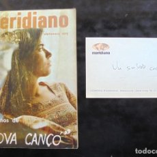 Colecionismo de Revistas e Jornais: REVISTA MERIDIANO 1970: DIEZ AÑOS DE NOVA CANÇÓ SEPTIEMBRE. + TARJETA DE MERIDIANO. Lote 293973173