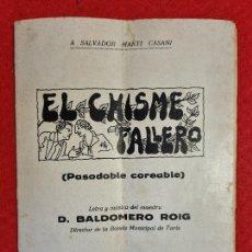Coleccionismo de Revistas y Periódicos: REVISTA FALLERA FALLAS DE VALENCIA EL CHISME FALLERO BALDOMERO ROIG 1936 ORIGINAL RF1. Lote 294016073