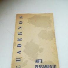 Coleccionismo de Revistas y Periódicos: CUADERNOS DE ARTE Y PENSAMIENTO. Nº 2. ENERO 1960. MADRID. VER INDICE.. Lote 294119248